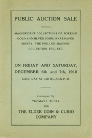 Public sale of a magnificent collection of foreign and United States gold and silver coins ... [12/06-07/1918]
