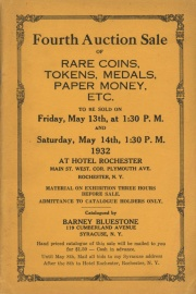 Fourth auction sale of rare coins, tokens, medals, paper money, etc. [05/13/1932]