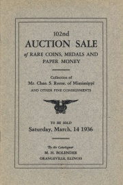 102nd auction sale of rare coins, medals, and paper money. [03/14/1936]