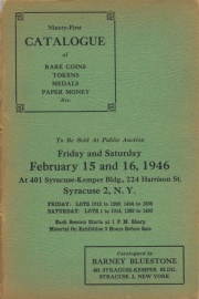 Ninety-first catalogue of rare coins, tokens, medals, paper money, etc. [02/15/1946]