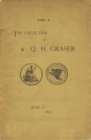 Collection of coins and medals, etc., formed by the late Q. H. Graser, M. D. of Bryan, O. [06/02/1893] Part 2