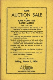 190th auction sale of rare coins and paper money. [03/02/1956]