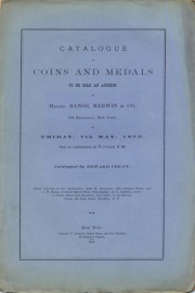 CATALOGUE OF COINS AND MEDALS TO BE SOLD AT AUCTION.