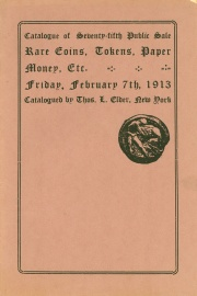 Catalogue of the seventy-fifth public sale. [02/07/1913]