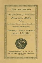 Public auction sale : the Lyman Haynes Low and other collections. [05/01/1924]