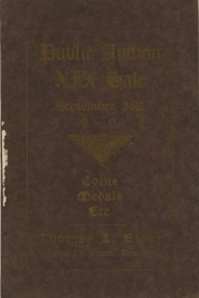 Catalogue of the nineteenth public auction sale of valuable coins, medals, paper money, curios, etc. [10/16/1908]