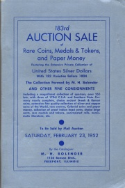 183rd auction sale of rare coins, medals & tokens, and paper money. [02/23/1952] (pg. 105)