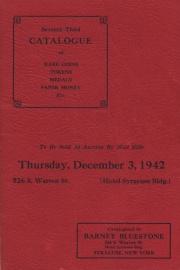 Seventy-third catalogue of rare coins, tokens, medals, paper money, etc. [12/03/1942]