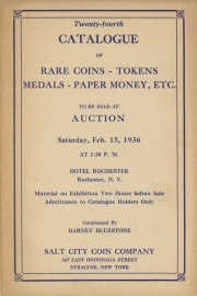 Twenty-fourth catalogue of rare coins, tokens, medals, paper money, etc. [02/15/1936]