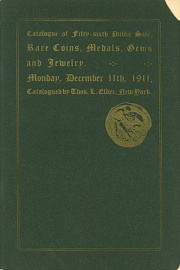 Catalogue of the fifty-sixth public sale of rare coins, medals ... [12/11/1911]