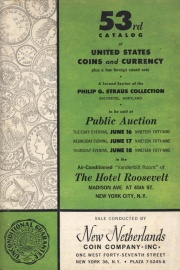 53rd catalog of United States coins and currency, plus a few cased sets. [06/16-18/1959].