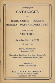 Twenty-fifth catalogue of rare coins, tokens, medals, paper money, etc. [05/16/1936]