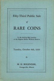 Fifty-third public sale of rare coins. [10/08/1929]