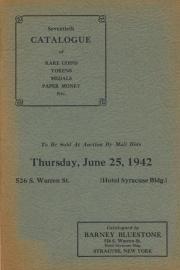 Seventh catalogue of rare coins, tokens, medals, paper money, etc. [06/25/1942]