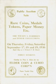 Public auction sale : the Wilson S. Harrison and other collections. [09/17/1936] (pg. 31)