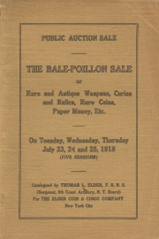 Two hundred and twenty-first public auction sale of the Bale-Poillon collections (William Poillon Estate--Robert Bale, Jr., consigners). [07/23-25/1918]