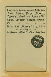 Catalogue of the seventy-seventh public sale. [03/29/1913]