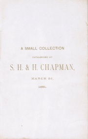 CATALOGUE OF A SMALL COLLECTION OF COINS, CONTAINING SOME DESIRABLE PIECES, AND A FINE COLLECTION OF MEDICAL MEDALS.