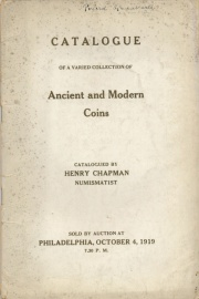 CATALOGUE OF A VARIED COLLECTION OF ANCIENT AND MODERN COINS.