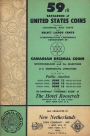 59th catalogue of United States coins. [06/13-15/1967]