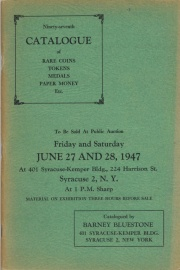Ninety-seventh catalogue of rare coins, tokens, medals, paper money, etc. [06/27-28/1947]