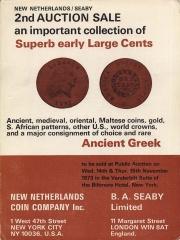 Second joint public auction sale : early U. S. large cents, 1793-1814. [11/14-15/1973]