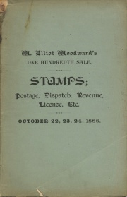 CATALOGUE OF THE COLLECTION OF HARLOW E. WOODWARD, CONSISTING OF UNITED STATES AND FOREIGN POSTAGE, DISPATCH, REVENUE, LICENSE AND TELEGRAPH STAMPS. (pg. 18)