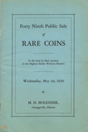Forty ninth public sale of rare coins. [05/01/1929]