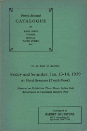 Forty-second catalogue of rare coins, tokens, medals, paper money, etc. [01/13-14/1939]