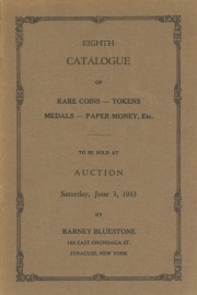 Eighth catalogue of rare coins, tokens, medals, paper money, etc. [06/03/1933]