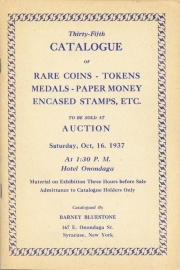 Thirty-fifth catalogue of rare coins, tokens, medals, paper money, encased stamps, etc. [10/16/1937]