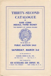 Thirty-second catalogue of rare coins, medals, paper money : the property of various owners. [03/03/1951]