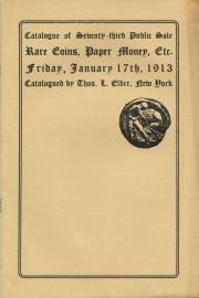 Catalogue of the seventy-third public sale. [01/17/1913]