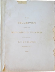 CATALOGUE OF THE MAGNIFICENT COLLECTION OF COINS OF THE UNITED STATES FORMED BY THE LATE RICHARD B. WINSOR, ESQ., OF PROVIDENCE, R.I.