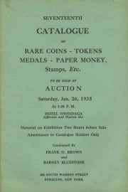 Seventeenth catalogue of rare coins, tokens, medals, paper money, etc. [01/26/1935]
