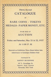 Thirty-second catalogue of rare coins, tokens, medals, paper money, etc. [05/21/1937]