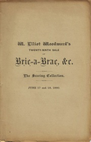EXECUTOR'S SALE. CATALOGUE OF BRIC-A-BRAC BELONGING TO THE ESTATE OF THE LATE DR. GIDEON N. SEARING, OF HEMPSTEAD, LONG ISLAND.