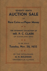 79th auction sale of rare coins and paper money. [11/29/1932]