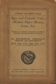 Public auction sale of remarkably fine collections of rare coins ... [05/16/1923]