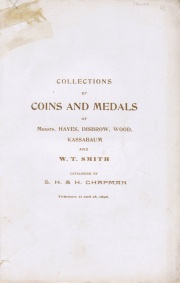CATALOGUE OF AMERICAN & FOREIGN COINS OF O.P. HAYES, DR. W.S. DISBROW, ISAAC WOOD, C.H. KASSABAUM, AND W.T. SMITH