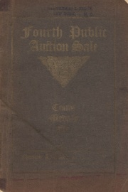 Catalogue of the fourth public auction sale of a large, rare and widely varied collection of coins ... [03/23/1906]