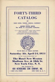 Forty-third catalog of rare coins, tokens, medals, currency. [04/24/1954]