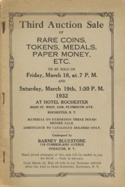 Third auction sale of rare coins, tokens, medals, paper money, etc. [03/18/1932]