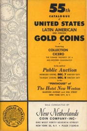 55th catalogue of United States, Latin American, and foreign gold coins. [12/07-08/1960]