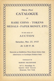 Thirty-first catalogue of rare coins, tokens, medals, paper money, etc. [03/27/1937]