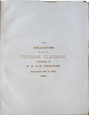CATALOGUE OF THE LARGE AND VALUABLE COLLECTION OF ANCIENT, FOREIGN, ENGLISH AND AMERICAN COINS AND MEDALS OF THE LATE THOMAS CLENEAY, ESQ., OF CINCINNATI.