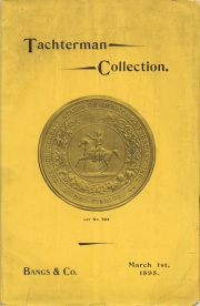 The Collection of Coins and Paper Money of J. C. Tachterman, of New York City.
