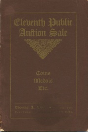 Catalogue of the eleventh public auction sale of coins ... the properties of George Anders ... [05/23/1907]