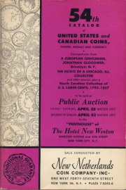 54th catalog of United States and Canadian coins, tokens, medals and currency. [04/22-23/1960]